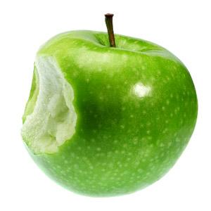 mindful een appel eten
