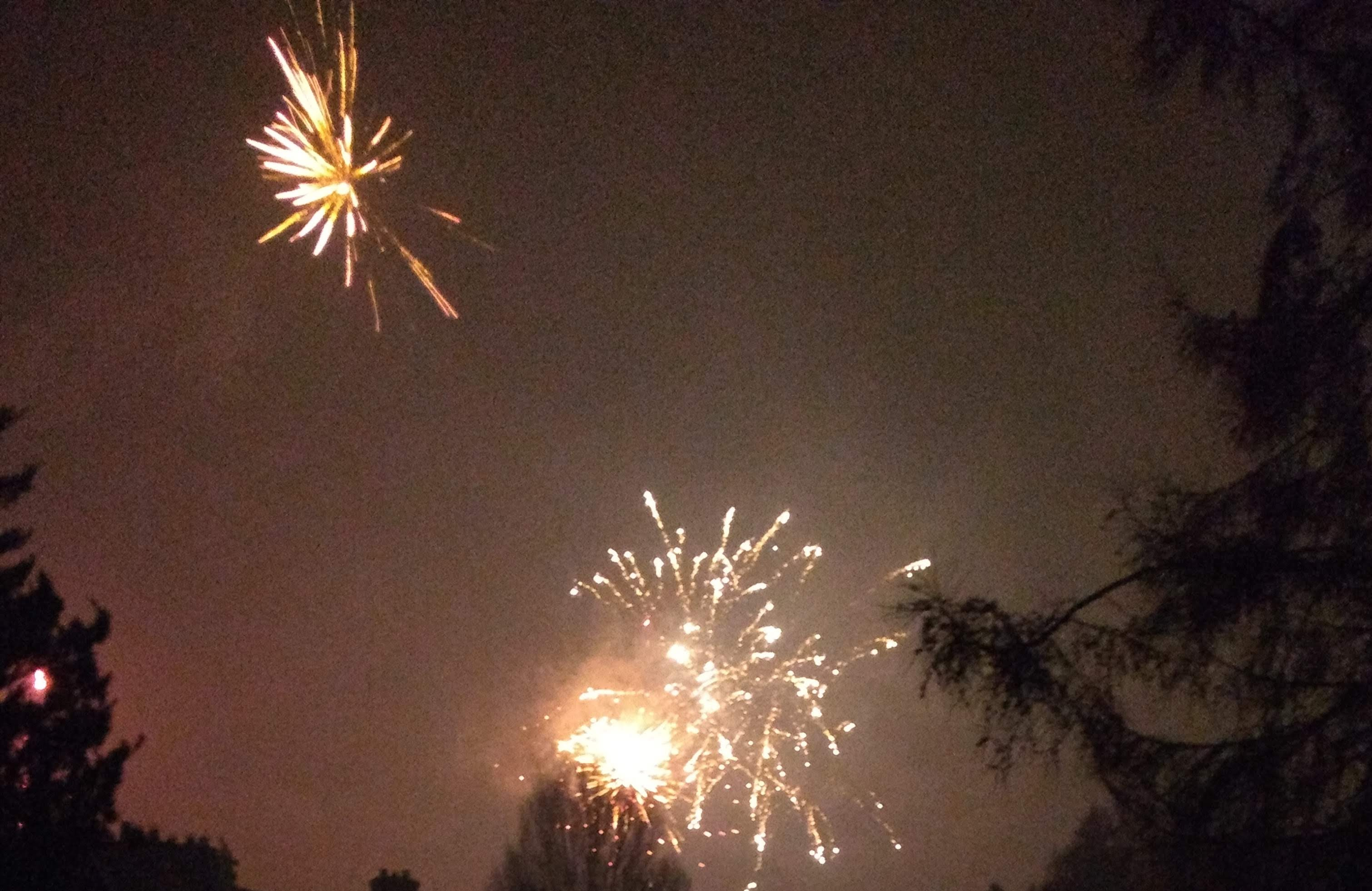 Vuurwerk vanaf ons balkon