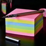 schrijven op notitieblok om niets meer te vergeten