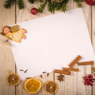 Kerstsfeer een brief schrijven